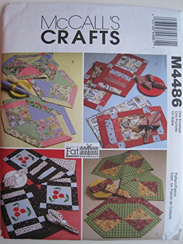 McCall's Pattern 4486 Fat Quarters Runners, Placemats and Napkins (Mccalls Placemat)