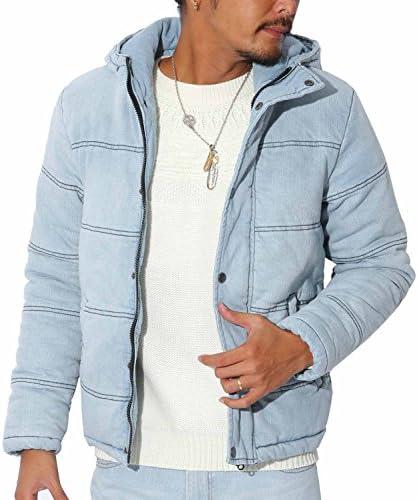 LUX STYLE(ラグスタイル) ブルゾン メンズ ジャケット インディゴデニム 中綿 フード