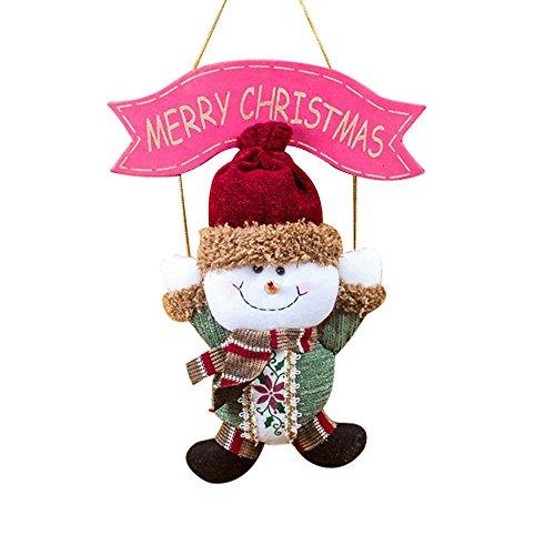 Cushion Moose - Santa Claus Snowman Elk Tree Door Christmas Decoration Decor Hanging Pendant - Gift Hooks Under House White Blue Pillows Grinch Inflatables Balls Prime Handmade Gingerbre ()