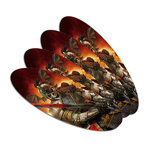 Undead Skeleton Knight Warrior Fantasy Double-Sided Oval Nail File Emery Board Set 4 Pack