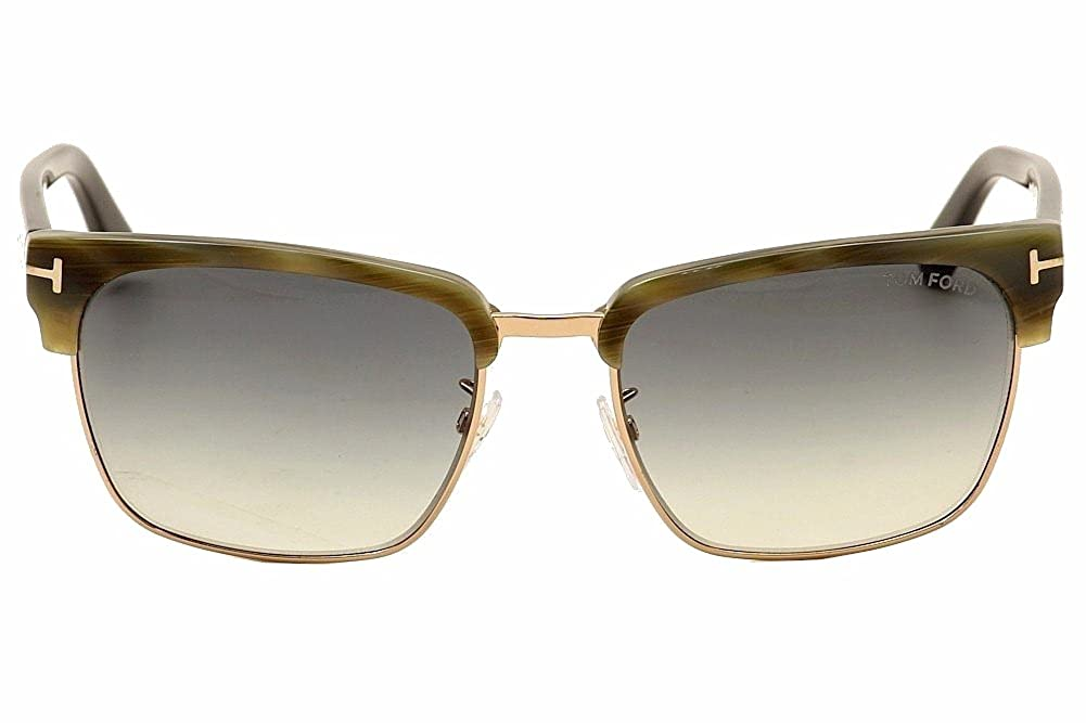 8c1b3a21e2093 Sunglasses Tom Ford RIVER TF 367 FT 60B beige horn gradient smoke at Amazon  Men s Clothing store