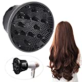Hair Diffuser, Universal Hair Diffuser Attachment, Hair Dryer Diffuser Suitable for 1.4-inch to 2.6-inch Blow Dry,...