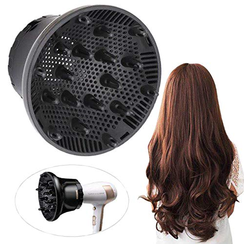 Hair Diffuser, Universal Hair Diffuser Attachment, Hair Dryer Diffuser Suitable for 1.4-inch to 2.6-inch Blow Dry, Professional Salon Tool for Fine Thick Curly Frizzy and Wavy Hair ()
