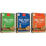 Cloud Star Wag More Bark Oven Baked Dog Treats 3 Flavor Variety Bundle: (1) Wag More Bark Less Oven Baked Crunchy Peanut Butter, (1) Wag More Bark Less Oven Baked Bacon, Cheese, and Apples, and (1) Wag More Bark Less Oven Baked Chicken & Carrots, 16 Ounces Each (3 Boxes Total)