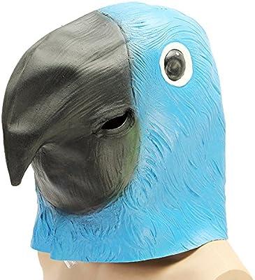 MOMOALA Alamor Azul Loro Pájaro Máscara Espeluznante Animal ...