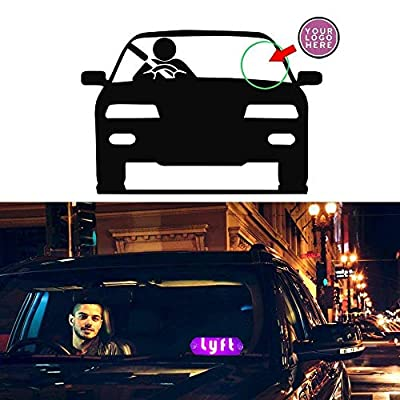 Ride Share LED Sign Decor with Suction Cups Glowing Decor Accessories Flashing Hook on Car Window with DC12V Car Charger Inverter (Pink): Automotive