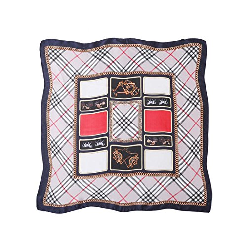Price comparison product image HBOS Women's Silk Scarf Autumn Winter 100 - set Professional Small Square Scarf Spring Scarf.