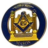 Delux Master Mason Pillars Heavy Alloy Car Emblem