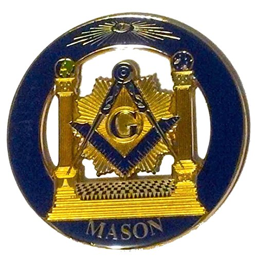Delux Master Mason Pillars Heavy Alloy Car Emblem