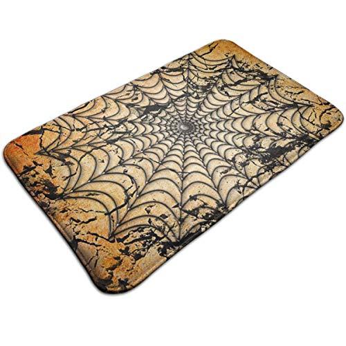 AZOULA Halloween Spider Web Background Indoor Outdoor Doormat Welcome Doormat Bathroom Mats (Machine-Washable/Non-Slip) 31.5