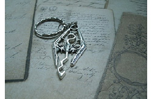 amazon com keychain or necklace representing a dragon in silver