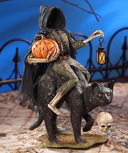Bethany Lowe Halloween TD6024 Headless Catman On Black Cat 2017 -
