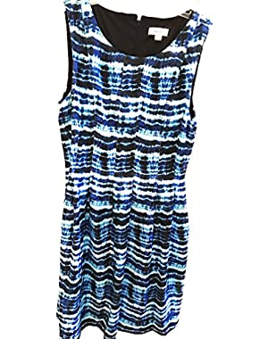 Calvin Klein Fit & Flare Printed Multi Color Dress Sz 12