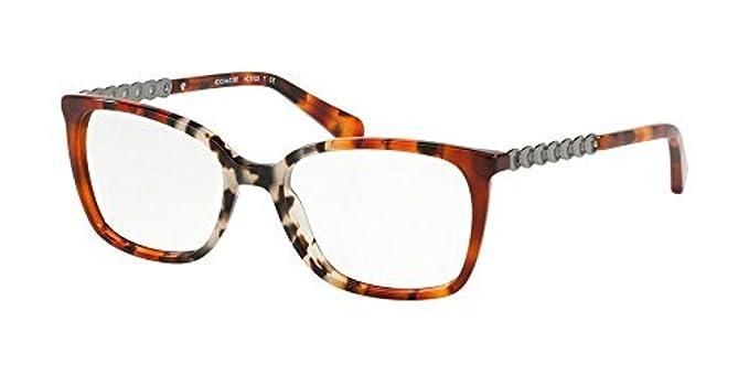 8171175947bf9 Coach Women s HC6122 Eyeglasses Amber Grey Multi Tort 52mm at Amazon Women s  Clothing store