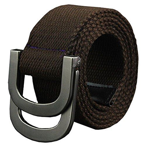 Maikun Belts Military Web Canvas Double D-Ring Buckle Tactical Belt Valentine's Day ()