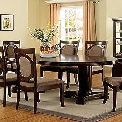 Furniture of America Mavea Walnut Dining Table