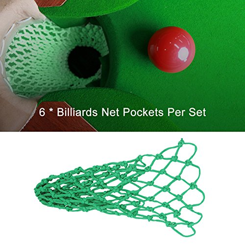 VGEBY 6Pcs Billiard Table Bags Pockets, Snooker Pool Mesh Net Club Kit Replace Pocket Set by VGEBY (Image #4)