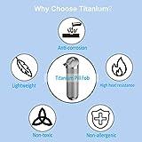 NUBARKO Pill Holder Keychain - Titanium Pill