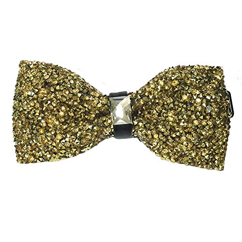 AINOW Mens Crystal Shining Luxury Pre-Tied Bow Tie Rhinestone Bowties