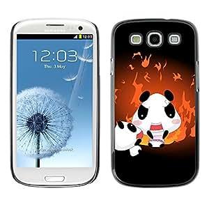 Paccase / SLIM PC / Aliminium Casa Carcasa Funda Case Cover - Cute Panda Family - Samsung Galaxy S3 I9300