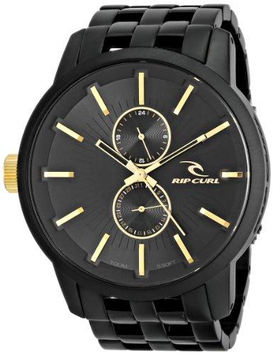 Rip Curl Men's A2740 - MID DETROIT 24 MIDNIGHT GOLD Analog Display Quartz Black Watch