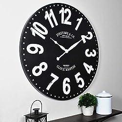 FirsTime & Co. 27 Sullivan Wall Clock, Black