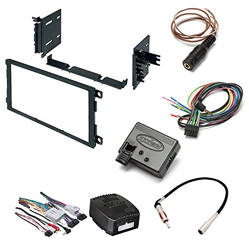 buick cadillac chevrolet gmc hummer isuzu oldsmobile pontiac aftemarket  single din car stereo install kit double