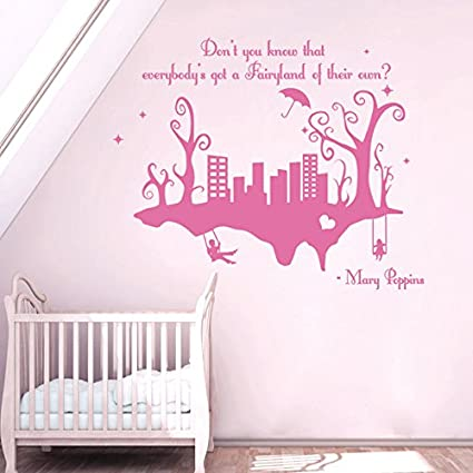 Wall Decals Quotes Mary Poppins Donu0027t You Know That Everybodyu0027s Quote Vinyl  Sticker Nursery