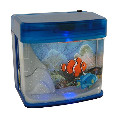 Lightahead Mini Artificial Aquarium Color LED Swimming Fish Tank -