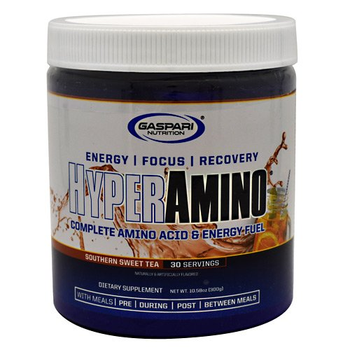 Gaspari Nutrition HyperAmino - Amino Acids - Insane Energy Southern Sweet Tea 30 Servings