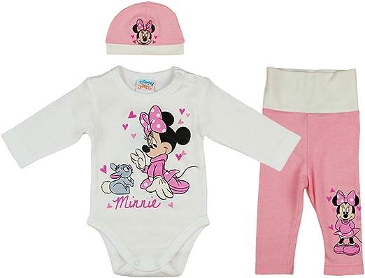 Disney Baby - Conjunto de ropa de 3 piezas para niña con Minnie ...