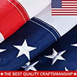 ATHX American Flag 8×12 ft. – Embroidered Stars – Sewn Stripes – Brass Grommets – UV Protected – Heavyweight Oxford Nylon Built for Outdoor Use (8×12 Foot American Flag) Review