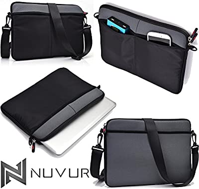 Grey|Cover Case Shoulder Bag W/Strap Microsoft Surface Pro 3 NuVur ™