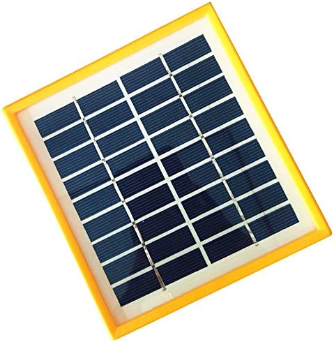 JoyTech 1pc 2w 9v 220ma Tempered Glass yellow Frame Solar Panel Module DIY Polysilicon Solar Epoxy Cell Charger B042
