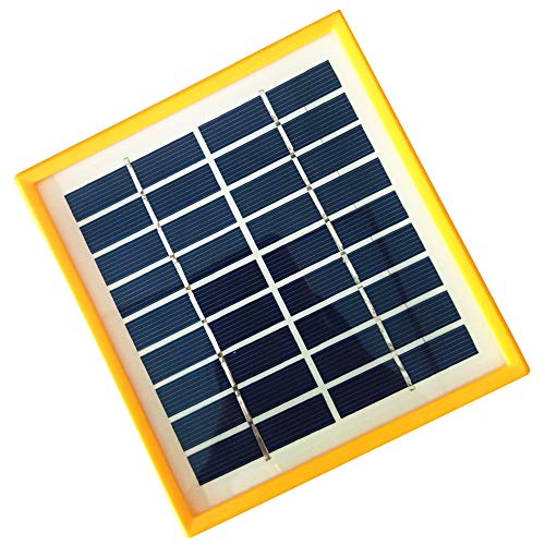 JoyTech 1pc 2w 9v 220ma Tempered Glass+yellow Frame Solar Panel Module DIY Polysilicon Solar Epoxy Cell Charger B042