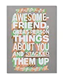 American Greetings Funny Awesome Friend Thinking of You Card with Glitter - 5856774