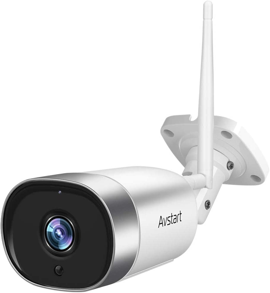 Outdoor Security Camera - 1080P WiFi Bullet Surveillance Cameras, IP66 Waterproof Home Camera with Encrypted Cloud, MicroSD Recording, FHD Night Vision, Two-Way Audio, Alexa Compatible