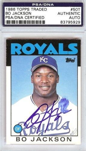 Bo Jackson Autographed Signed 1986 Topps Rookie Card 50t 83795929