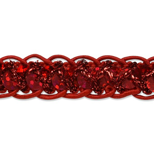 Expo International Sequin Cord Braid Trim, 20-Yard, Red IR4570RD-20
