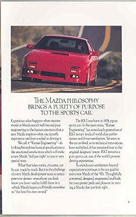 Amazon.com: 1990 Mazda RX7 Turbo GXL GTU Brochure: Entertainment Collectibles