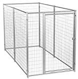 Dog Kennel - Lucky Dog 6'H x 10'L x 5'W Modular Box Kennel - This Welded Animal Enclosure is Perfect for Medium to Large Dogs and Animals and is Designed with Their Safety and Comfort In Mind. Dimensions (6'H x 10'L x 5'W); 131 lbs