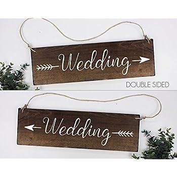 wedding arrow sign wedding directional sign rustic wedding direction signs ceremony directional sign