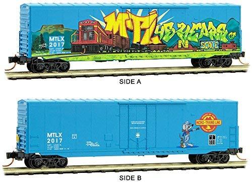 誠実 micro-trains 2017 MTL B07B69J6HK n-scale 50 ftボックス車MTL 45th 45th Anniversary Car (グラフィティ) # 2017 B07B69J6HK, LooCo:3cf95e7d --- a0267596.xsph.ru