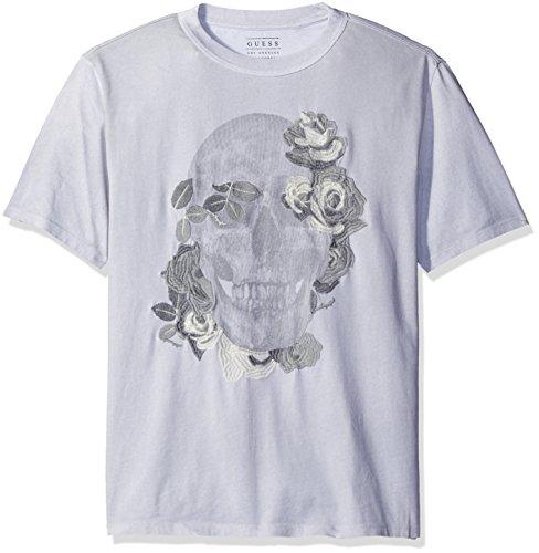 GUESS Mens Reflective Skull T Shirt