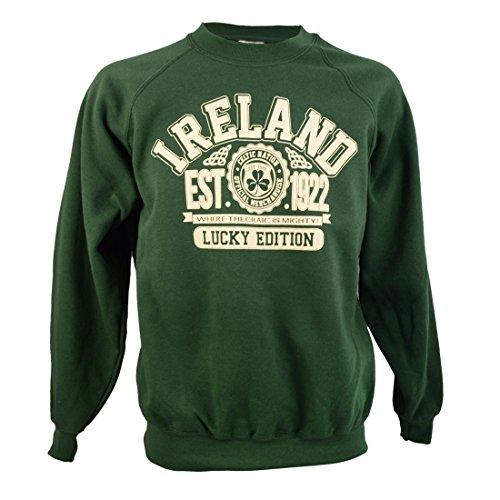 Traditional Mens Sweatshirt - Traditional Craft Ltd. Bottle Green Republic Ireland Sweatshirt (XLarge)