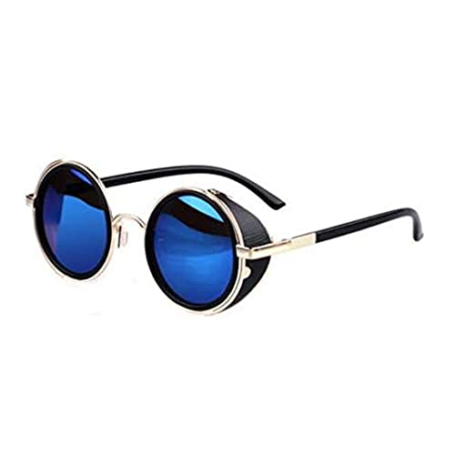 9b00367e04e Ardisle Women s V205 Cyber Goggles Steampunk Sunglasses 50S Round Glasses  145mm Blue at Amazon Women s Clothing store