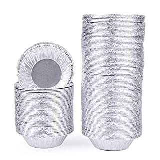 Yesland 500 Pack 2 7/8 Inch Aluminum Foil Tart & Pie Tins Pans, Disposable Pans for Baking, Cooking, Storage & Reheating