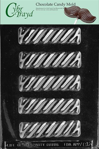 Cybrtrayd Life of the Party AO012 Twist Bar All Occasions Chocolate Candy Mold in Sealed Protective Poly Bag Imprinted with Copyrighted Cybrtrayd Molding Instructions