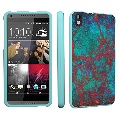 HTC Desire 816 Case, DuroCase Hard Case Mint for HTC Desire 816 Virgin Mobile (Released in 2014) - (Red Marble)