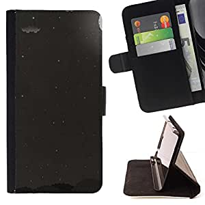 For Samsung Galaxy J1 J100 Case , Luna Gris Negro Blanco Estrellas del cielo- la tarjeta de Crédito Slots PU Funda de cuero Monedero caso cubierta de piel